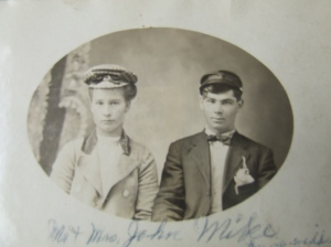 Clarissa Wooster and John Mike. Sarah's great great grandparents.